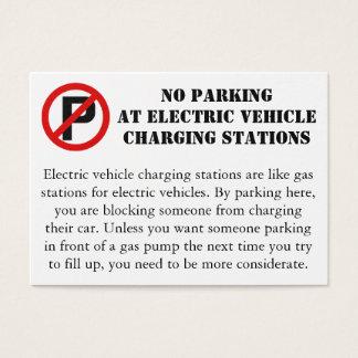 No parking at EV charging spots Business Card