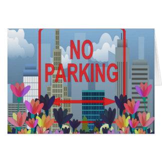 No parking card