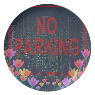 No parking party plate