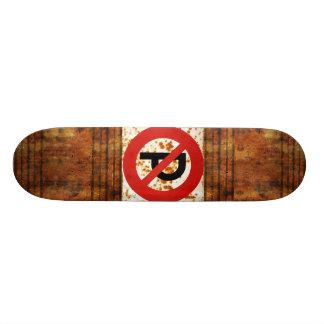 No Parking Rust Skateboard