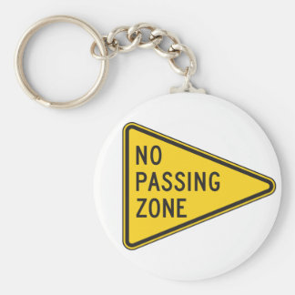 No Passing Zone Keychain