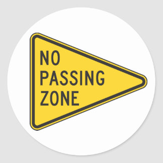 No Passing Zone Stickers