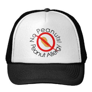 No Peanuts Peanut Allergy Designs Trucker Hat