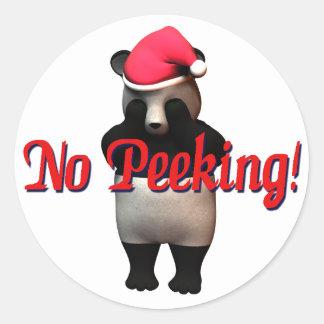 No Peeking Panda Bear! Sticker