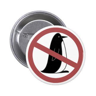 No Penguins 2 Inch Round Button