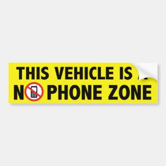 No Phone Zone Bumper Sticker Car Bumper Sticker