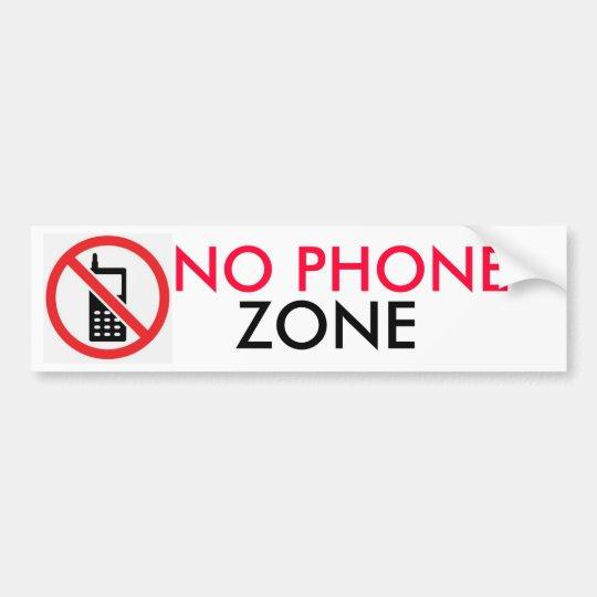 NO PHONE ZONE BUMPER STICKER