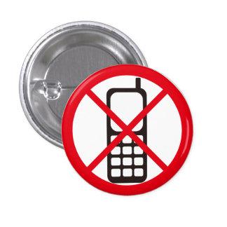 No Phones! 1 Inch Round Button