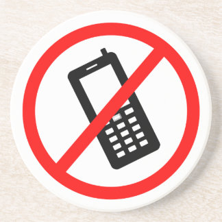 No phones Allowed, Turn Off your Cellphone Beverage Coasters