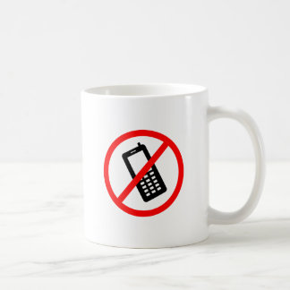 No phones Allowed, Turn Off your Cellphone Classic White Coffee Mug