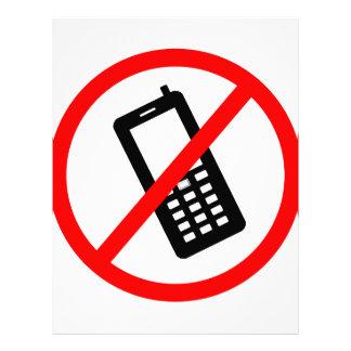 No phones Allowed, Turn Off your Cellphone Custom Letterhead