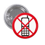 No Phones! Pinback Buttons