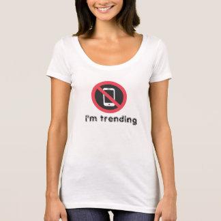 No Phones Scoop Neck T Shirt