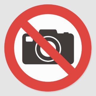 No Photos Allowed Classic Round Sticker