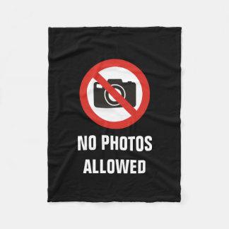 No Photos Allowed Fleece Blanket