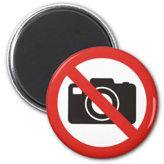 No Photos Allowed Magnet