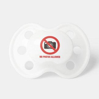 No Photos Allowed Pacifier