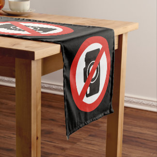 No Photos Allowed Short Table Runner