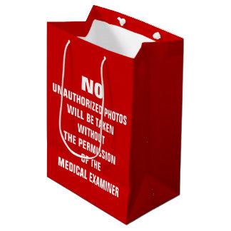 No Photos Autopsy Room Sign Medium Gift Bag