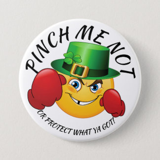 No Pinching St. Patrick's Day Button