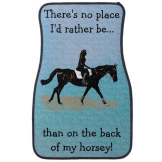 No Place I'd Rather Be - Equestrian Horse Car Mat