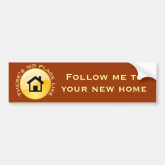 No Place Like Home Button Bumper Sticker