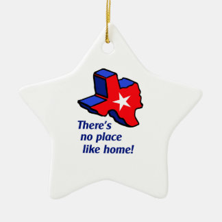 NO PLACE LIKE HOME. CERAMIC ORNAMENT