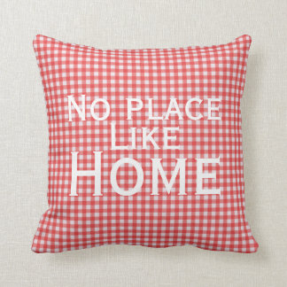 No Place Like Home Gingham Pillow