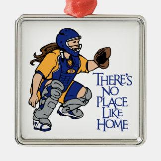 No Place Like Home Metal Ornament
