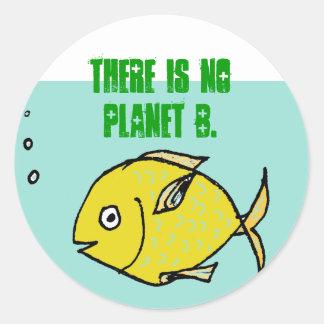 No Planet B Classic Round Sticker