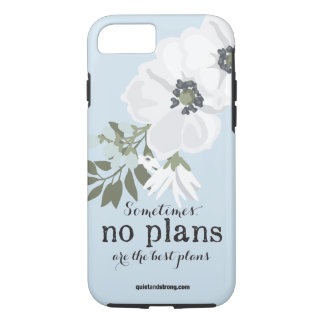 No Plans - Breathing Floral Introvert Phone Case