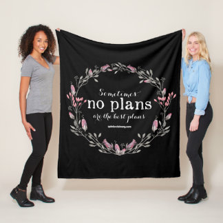No Plans - Floral Introvert Blanket - Dark