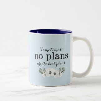 No Plans w/ Personalized Name Wreath Mug