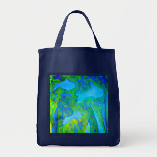 No Plastic Grocery Tote with fish