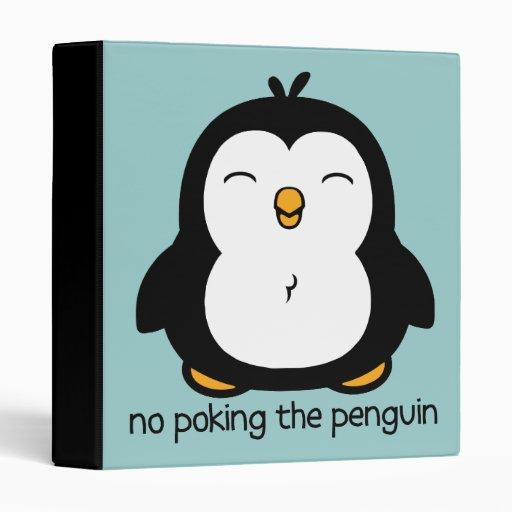 No Poking The Penguin Vinyl Binders