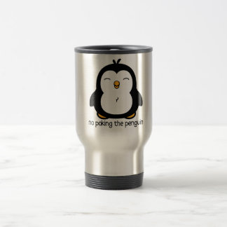 No Poking The Penguin Travel Mug