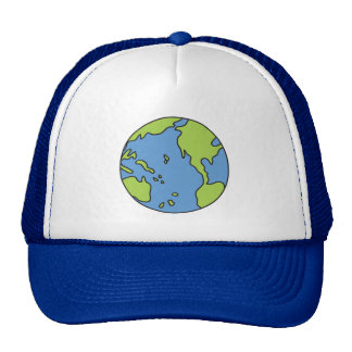 No Polluter Hooter Earth & Recycle Symbols Trucker Hat