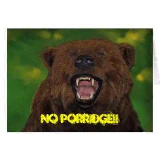 No Porridge!! Card