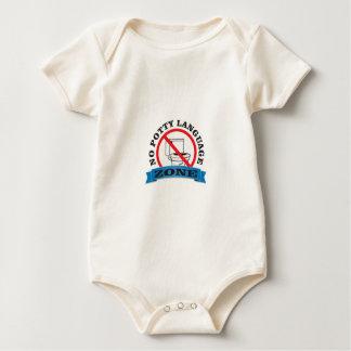 no potty language zone baby bodysuit