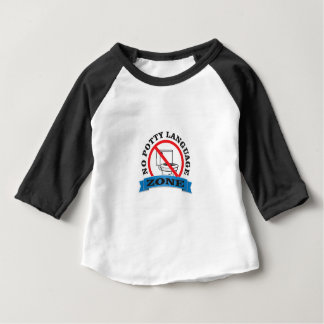 no potty language zone baby T-Shirt