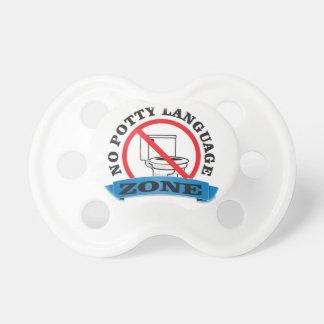 no potty language zone pacifiers