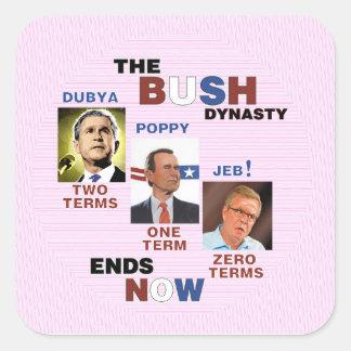 No Presidential Terms for Jeb! Square Sticker