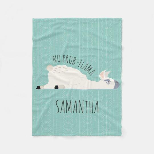 No Prob-Llama Funny Llama Blanket