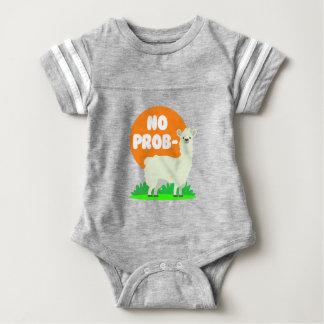 No Prob-Llama - The No Problem Llama - Funny Baby Bodysuit