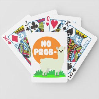 No Prob-Llama - The No Problem Llama - Funny Bicycle Playing Cards