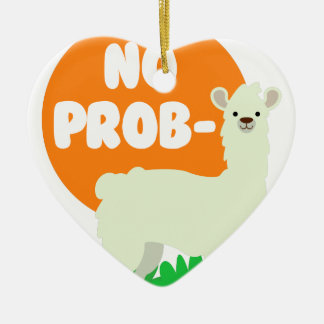 No Prob-Llama - The No Problem Llama - Funny Ceramic Ornament