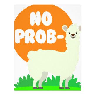 No Prob-Llama - The No Problem Llama - Funny Letterhead