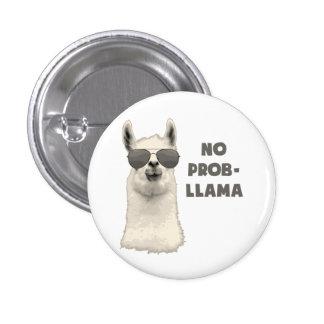 No Problem Llama 1 Inch Round Button