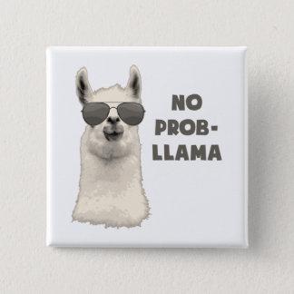 No Problem Llama 2 Inch Square Button