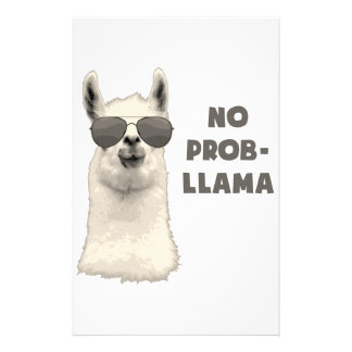 No Problem Llama Custom Stationery